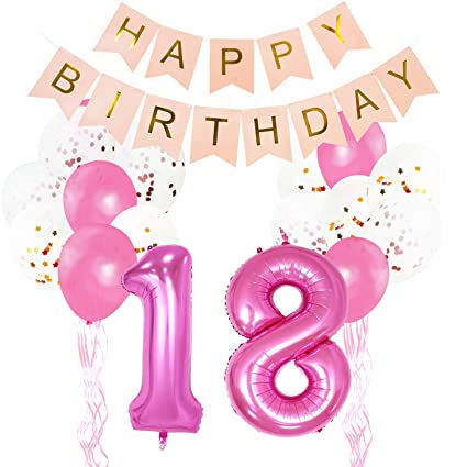 """KUNGYO 21th Birthday Party Decorations - """"Happy Birthday"""" Bunting Banner, Number """"30"""" Aluminum Foil..."""