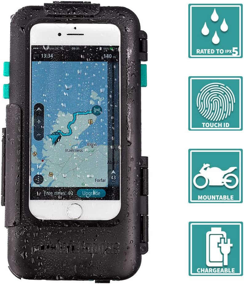 Ultimate Addons Apple iPhone 6 6S 7 8 Plus 5.5 Tough Waterproof Case with Amps 4 Hole Connector Plate