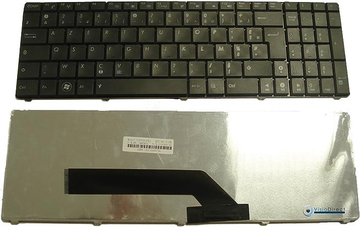 Teclado francés AZERTY negro tipo V090562BK1 fr para ...