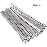 100 pcs Bridas para Cables Ataduras Acero Inoxidable