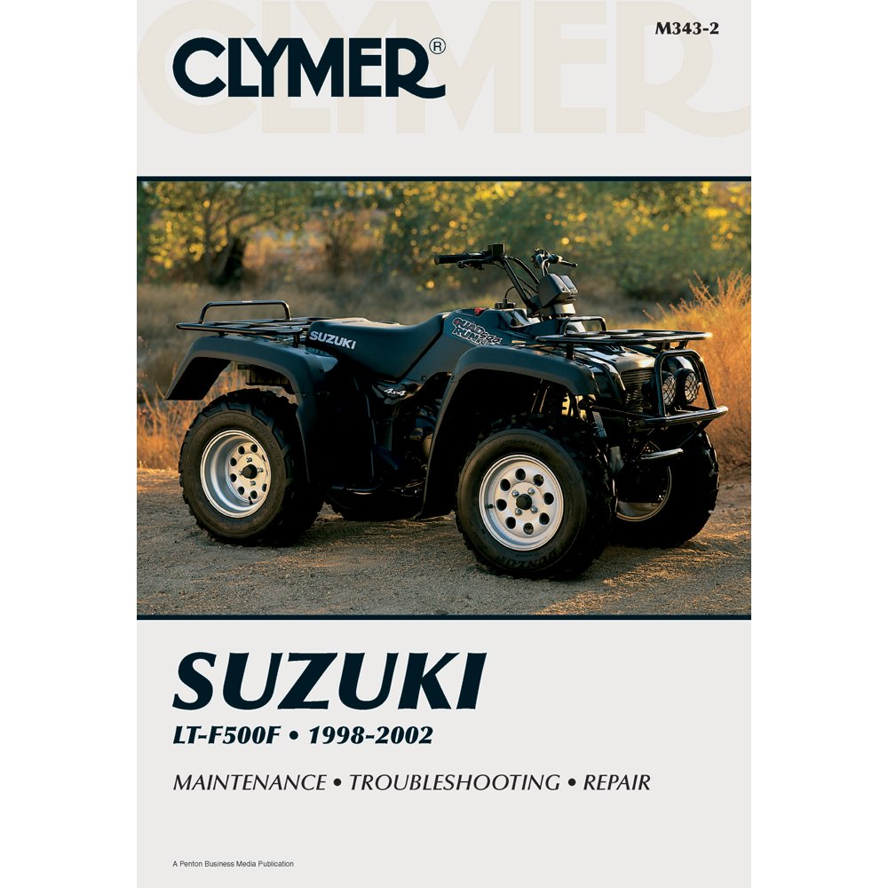 1998-2002 CLYMER SUZUKI ATV LT-F500F SERVICE SHOP MANUAL M343-2