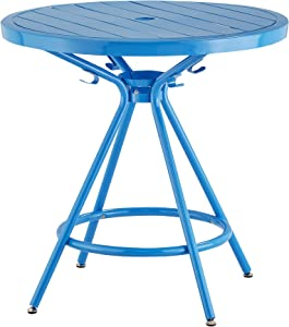 """Safco Products CoGo Steel Indoor/Outdoor Table, 30"""" Round, Blue"""