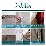 PHI VILLA Heavy Duty Offset Patio Umbrella Canopy