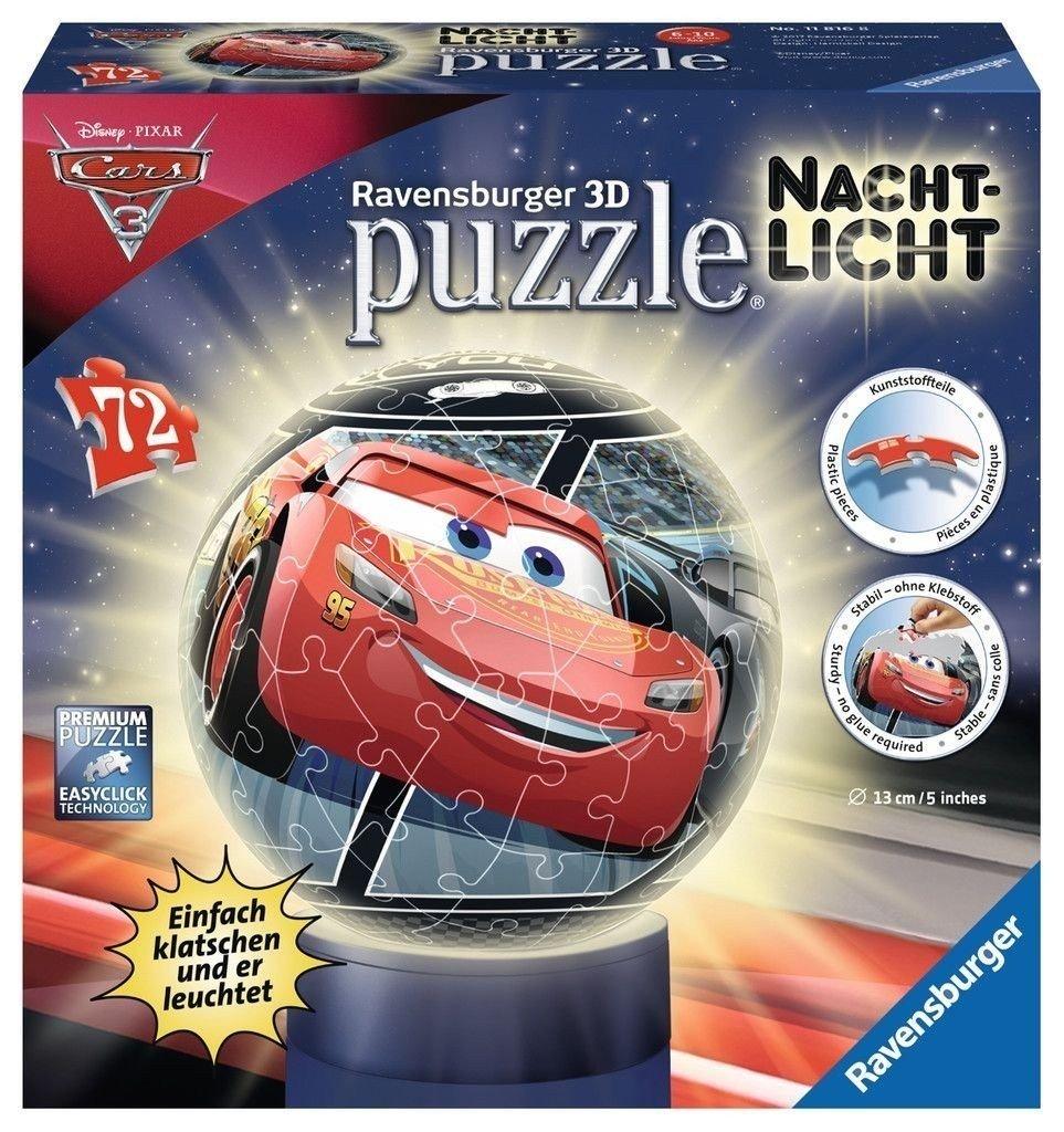 Ravensburger Erwachsenenpuzzle 11816 Disney Nachtlicht: Cars 3 3D-Puzzle Ravensburger Spielverlag