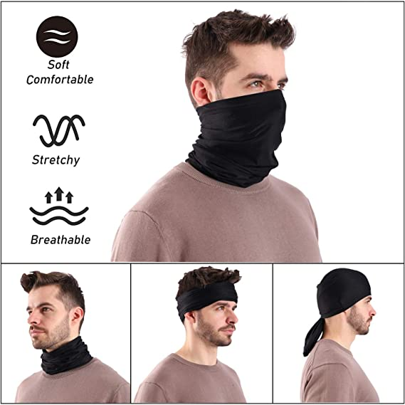 Hot 30Styles Face Sun Shield Neck Gaiter Balaclava Neckerchief Bandana Headband