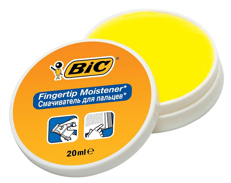 Bic 897178 - Gel umidificante per la punta delle dita, vasetto da 20 ml, confezione da 6 unità, colore: Bianco/Arancione