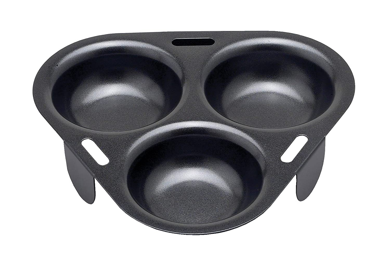 HIC Non-Stick 3-Egg Poacher Insert, PFOA and BPA Free Harold Import Company 43133