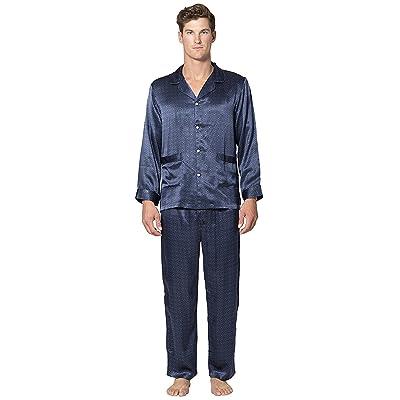 Belgravia Silk Pajama Set Black at Men's Clothing store