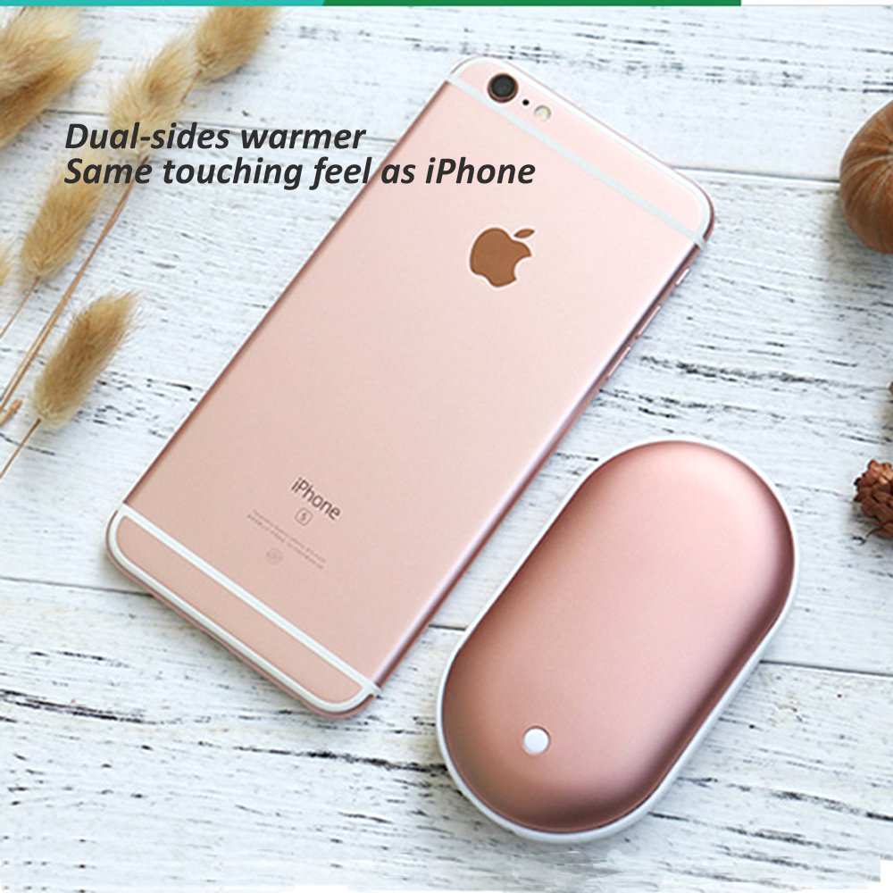 ThreeLeaf Rechargeable Hand Warmer 5200mAh Electronic Portable Instant Heating//USB Back-up Power Back Battery for Samsung.iPhone