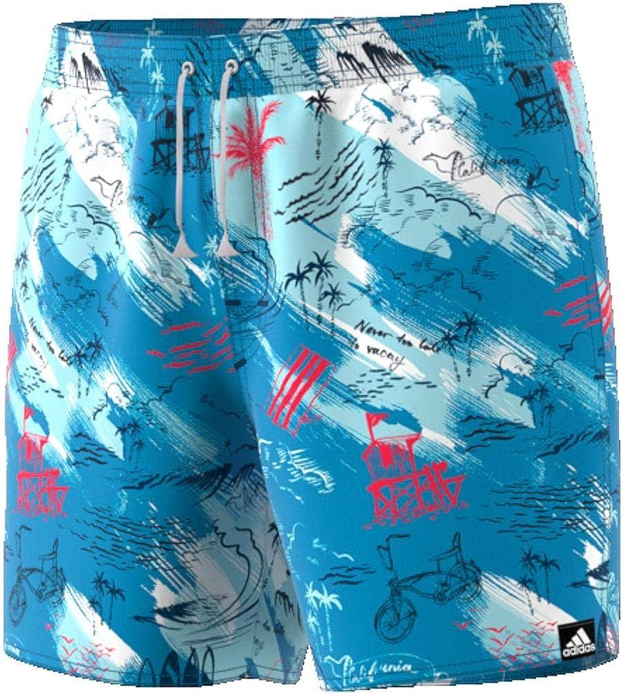 adidas Beach Graphic Length Swim Shorts Hombre