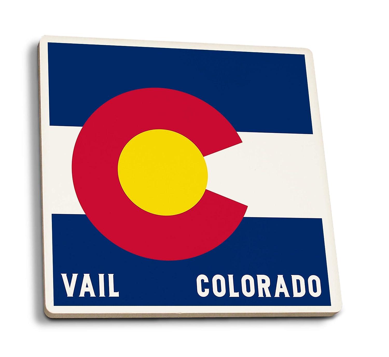 コロラド州コロラド州旗 4 Coaster Set LANT-50325-CT 4 Coaster Set  B07HFKRS67