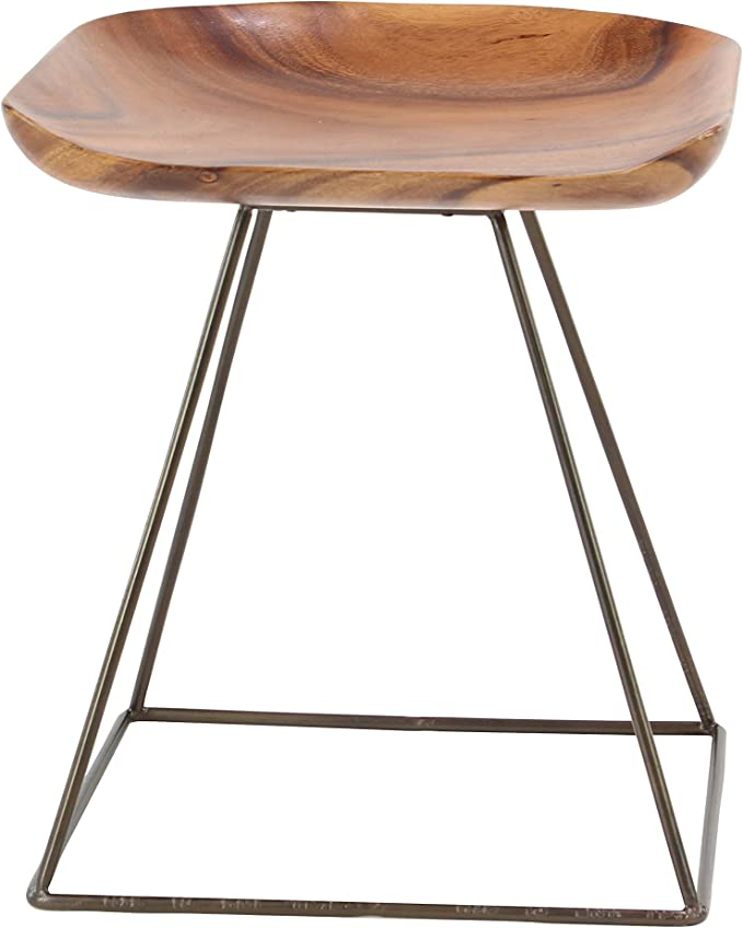 Deco 79 28412 Stool Brown//Gray