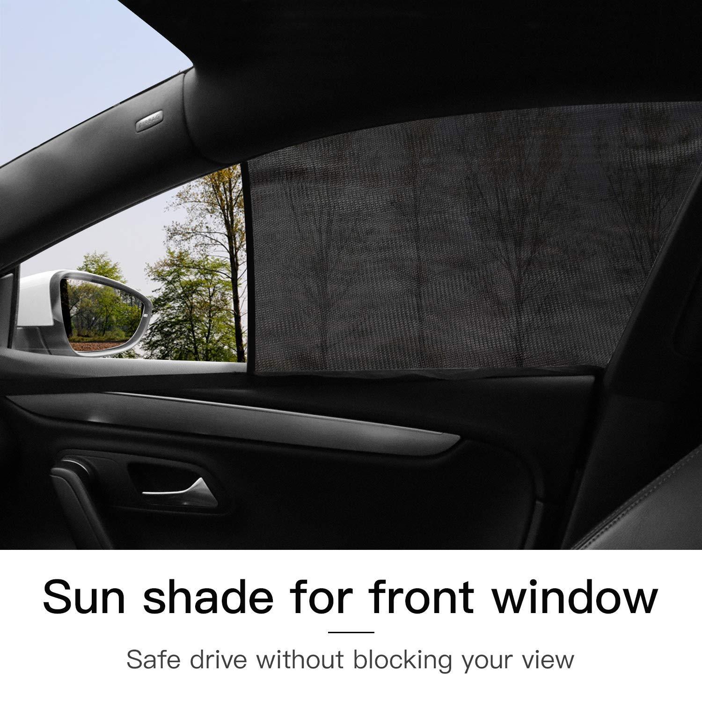 Car Sun Shade for Baby Car Side Rear Sun Shade Front Window Sunshade for Cars Trucks /& SUVs 2 Pack for Front Window and 2 Pack for Back Window CCTRADE 4 Pack Car Window Shade