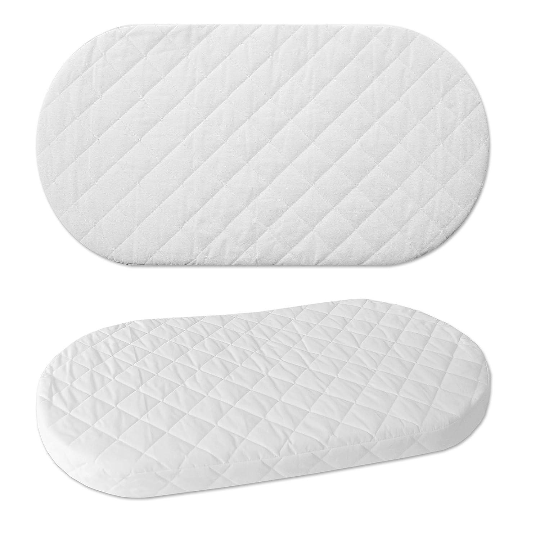 WALDIN Foam Mattress for Baby Wicker Cradle, Moses Basket 6001-00