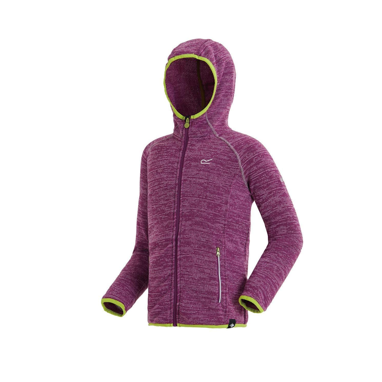 Regatta Childrens Dissolver Full-zip Stretch Hooded Fleece