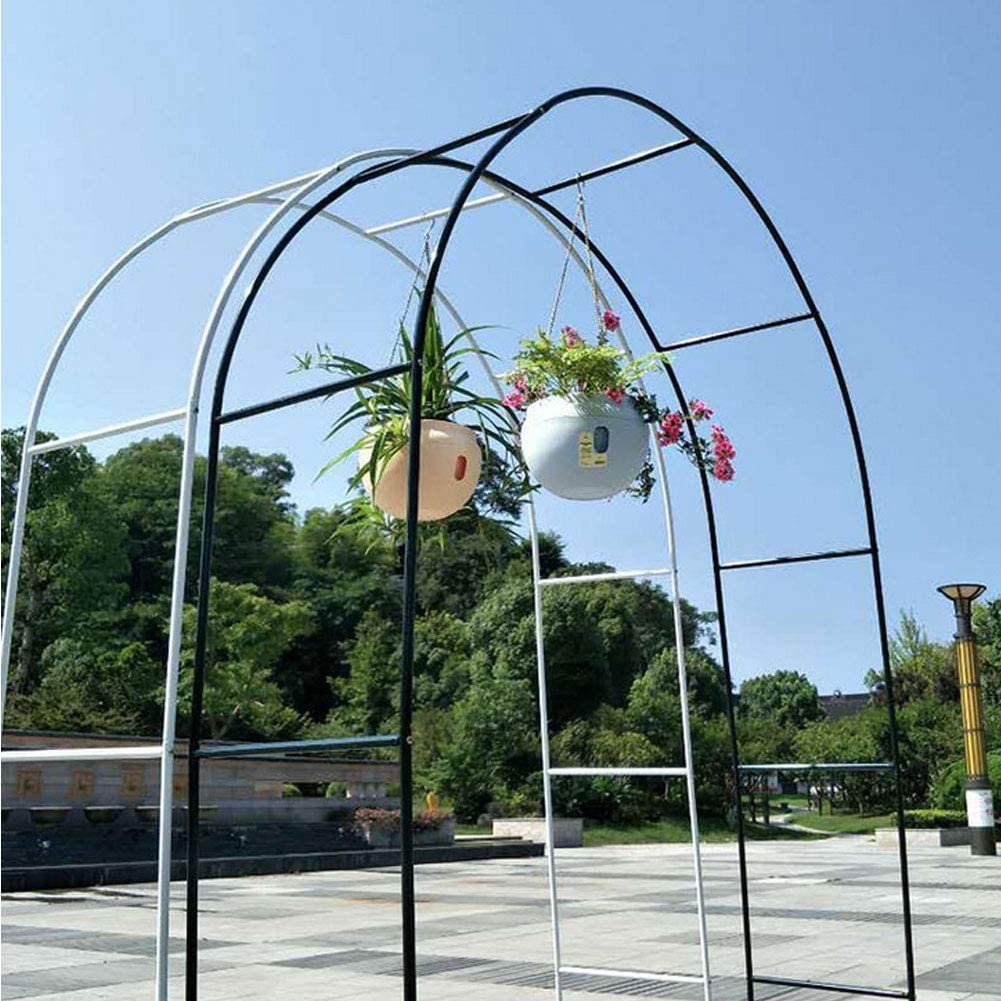 Garden Arch,Wedding Arches for Ceremony,Rose Arches Metal,Flower Arch Frame,Plant Climbing Archway Iron Weather-Proof Support Decoration for Wedding Garden Dark Green