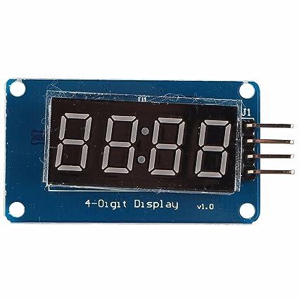 4 dígitos de 4 segmentos TM1637 Digital TUBO LED Reloj Módulo con brillo ajustable para Arduino