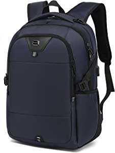 Laptop Backpack Water Resistant Backpacks Durable College Travel Daypack Anti Theft with USB Charging Port for 15.6 Inch Laptops Best Gift for Men Women Boys Girls Students(15.6 Inch, Dark Blue)