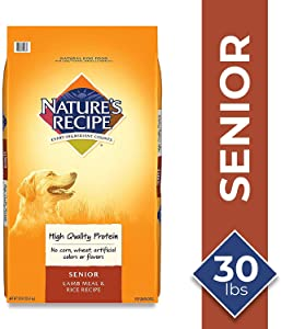 Nature's Recipe Senior Dry Dog Food Lamb Meal & Rice Recipe