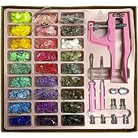 Kit Alicate de Pressão Botão Plastico Rosa Ilhos Botões de Metal