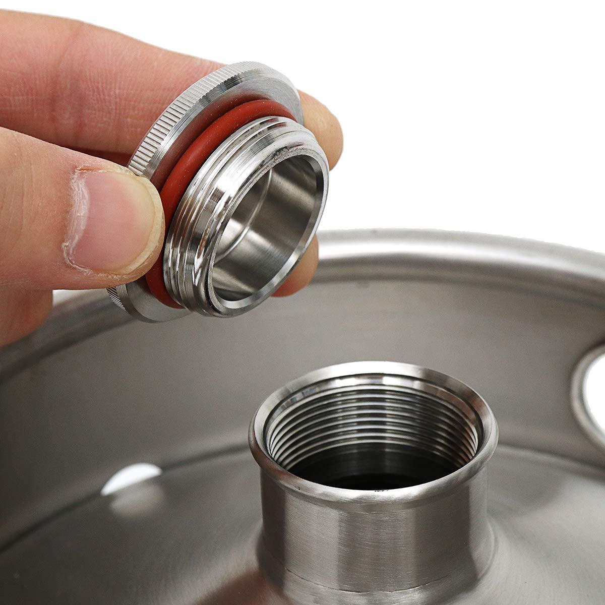 Stainless Steel Brew Barrel, SENREAL 10L Stainless Steel Cast Growler Barrel Beer Wine Making Tools Accessories by SENREAL (Image #5)