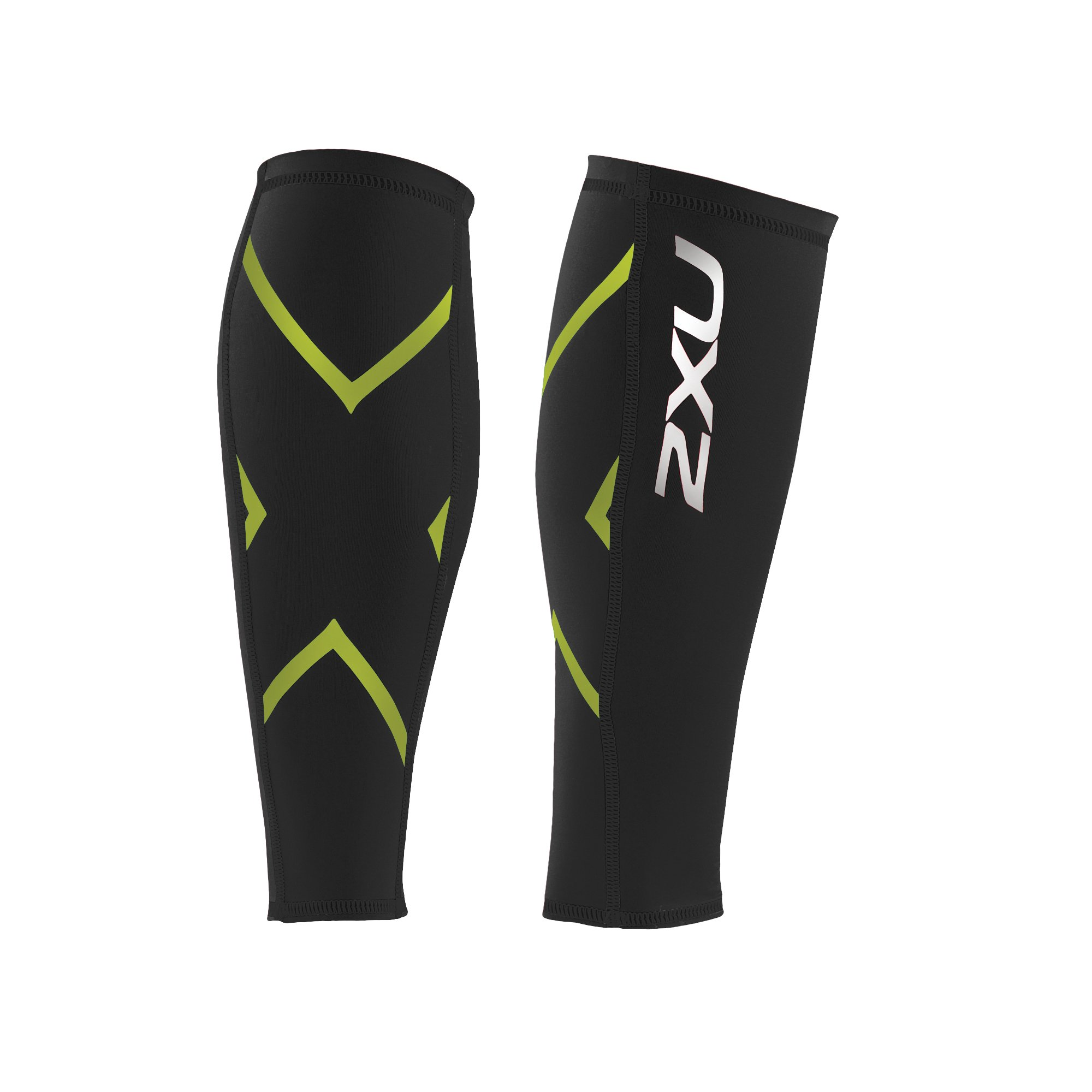 2XU Compression Calf Guards, Black/Bright