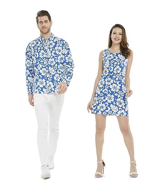 Amazon.com: Hawaii resaca pareja Luau hawaiano Cruise traje ...