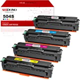 Shidono Compatible Toner Cartridge Replacement for Samsung 504S CLT-504S Fits with Xpress SL-C1860FW/CLP-415NW/SL-C1810W/CLX-4195FW/CLP-415N/CLX-4195N/ Printer, [4-Pack, Black/Cyan/Yellow/Magenta]