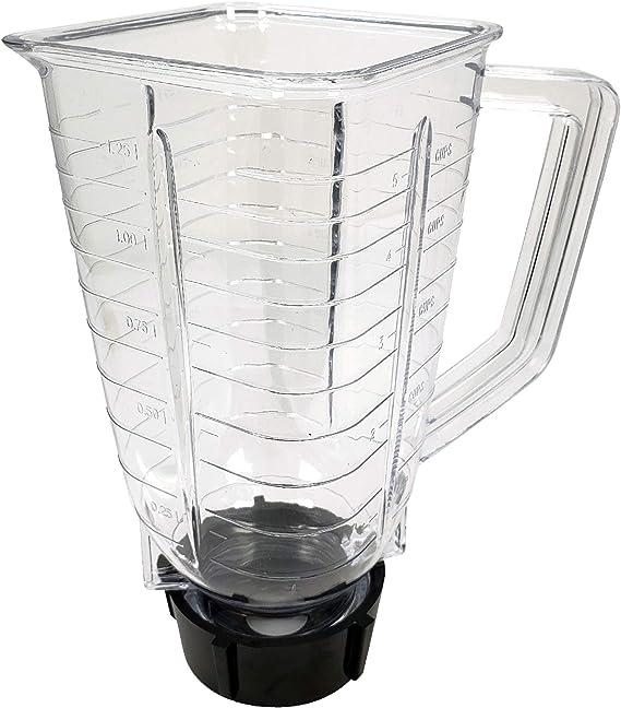 Batidora de vaso cuadrada de 5 tazas, de plástico, repuesto para Oster 027472-000-089: Amazon.es: Hogar