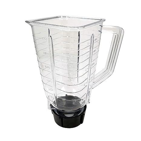 Batidora de vaso cuadrada de 5 tazas, de plástico, repuesto para ...