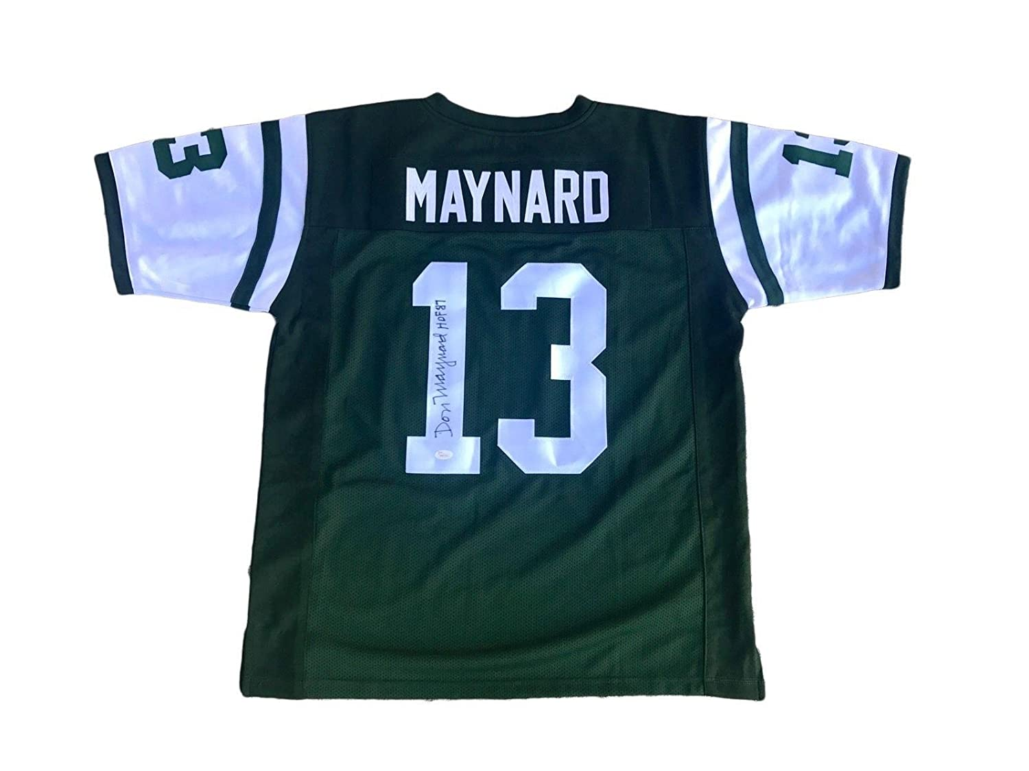 Amazon.com  Signed Don Maynard Jersey - Home Green - JSA Certified -  Autographed NFL Jerseys  Sports Collectibles 42d83a81b