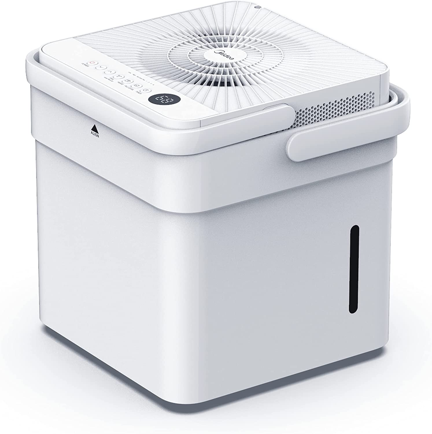 Midea Cube 50 Pint Dehumidifier with Smart Wi-Fi, For Up to 4,500 Sq. Ft.-Compact Size for Home, Basements, Medium-sized Rooms, and Bathrooms, Works with Alexa (White), ENERGY STAR Most Efficient 2021