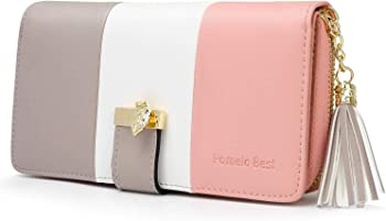 Wallet for Women with Multiple Card Slots and Roomy Compartment (various)