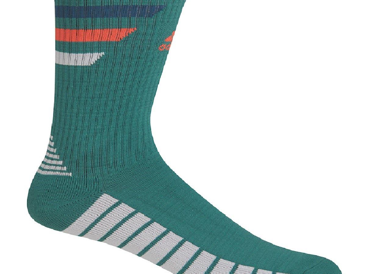 adidas Men's Single Golf Stripe Crew Sock Tech Forest Green11-14