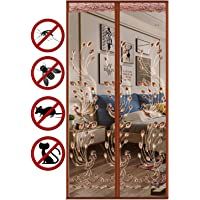 Magnetic Door Screen, Fly Insect Screen Mesh Door Curtain, Mosquito Net Mesh Curtain, Top-to-Bottom Seal Shuts…
