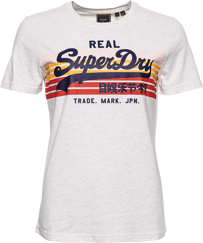 Superdry VL Retro Rainbow tee Camiseta para Mujer: Amazon.es: Ropa y accesorios