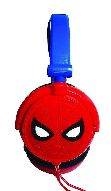 Lexibook Marvel Spider-Man Peter Parker Casque audio stéréo, puissance sonore limitée, pliable et ajustable, rouge/bleu, HP010SP.