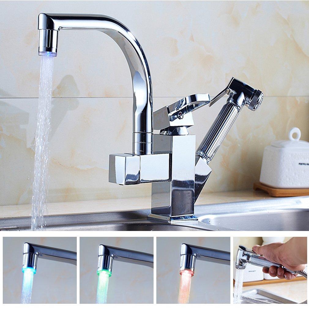 Auralum® Multifunzione 360°Rubinetto miscelatore cucina in ottone ...
