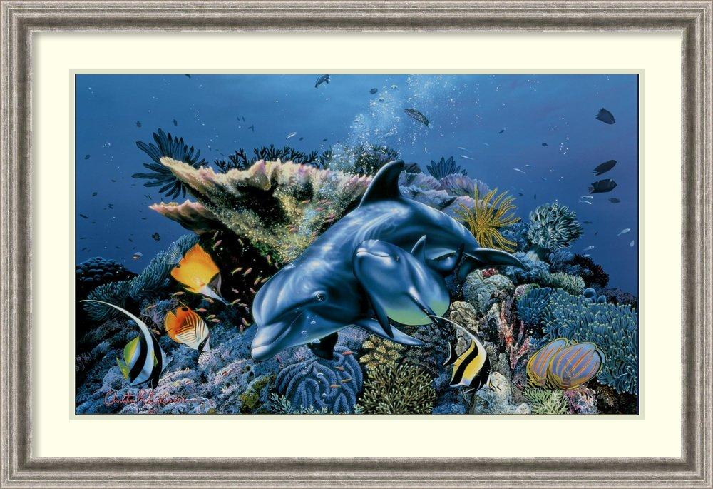 Framed Art Print 'Mother's Love' by Christian Riese Lassen by Amanti Art