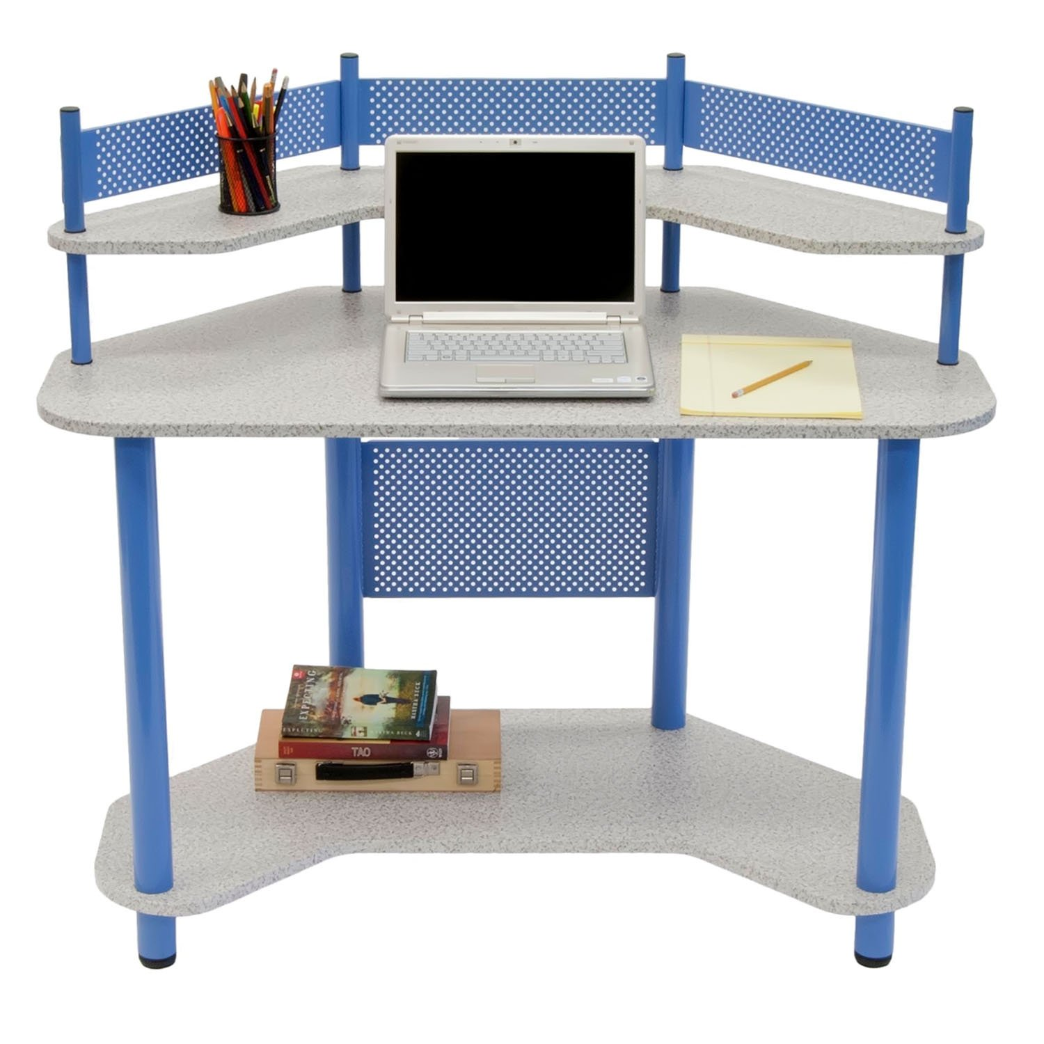 Child's Corner Computer / Writing Desk. Lower Shelf For CPU