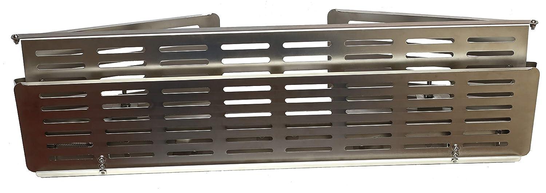 Elternstolz Herdschutzgitter mit Schalterabdeckung Metall Edelstahl Kindersicherung Herd Kn/öpfe