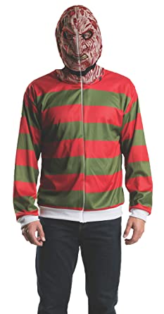 142a68e2044 Amazon.com  Rubie s Costume Men s Nightmare On Elm Street Freddy Adult  Costume Hoodie  Clothing