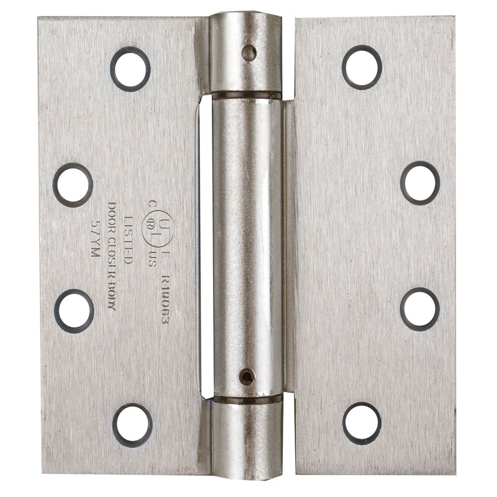 Global Door Controls CPS4540-US15-M Cps Series Spring Hinge Imperial USA 4.5 x 4.0 In. Satin Nickel Full Mortise Spring Hinge - Set of 2 by Global Door Controls