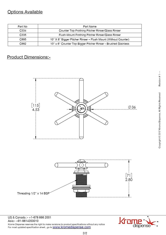 Pitcher Rinser Spray Assembly C334.13