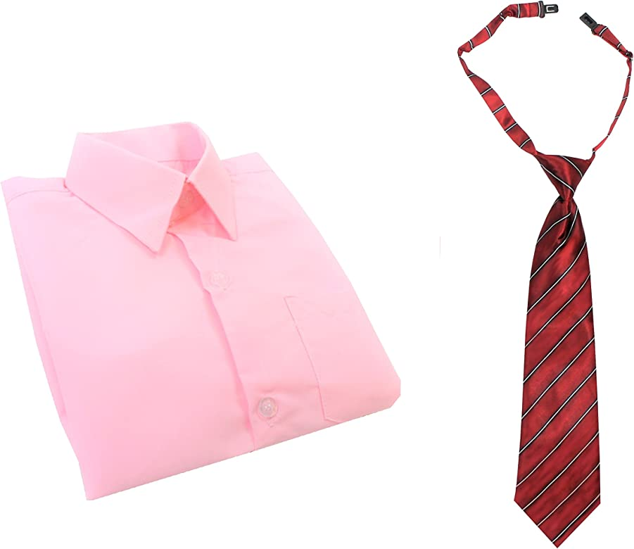 1000 Ting, Denmark Camisa Rosa con Corbata (1-14 años) (7 años ...