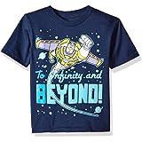 Disney Boys' Toddler Toy Story Buzz Lightyear Infinity & Beyond Short Sleeve Tee