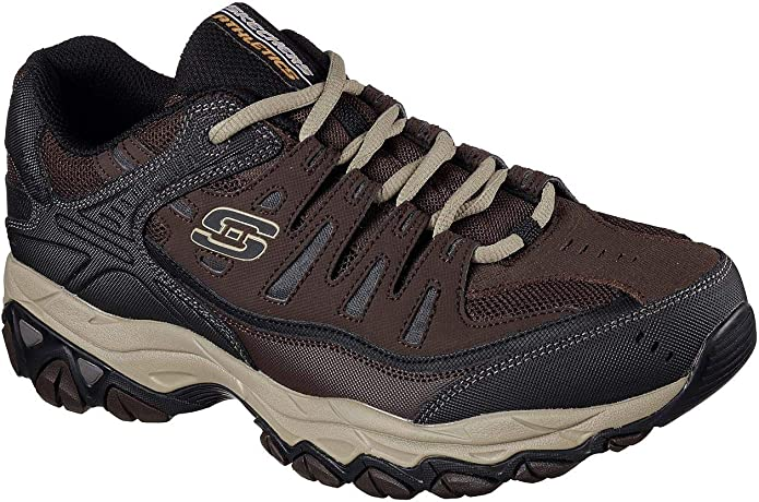 Skechers - Mens After Burn M.Fit - Shoes, Size: 7 XW US, Color: Brown/Taupe