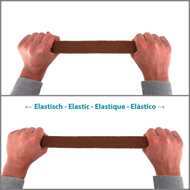 Cintura in tessuto elasticizzato da donna e da uomo lunghezza da 100 a 130 cm intrecciata