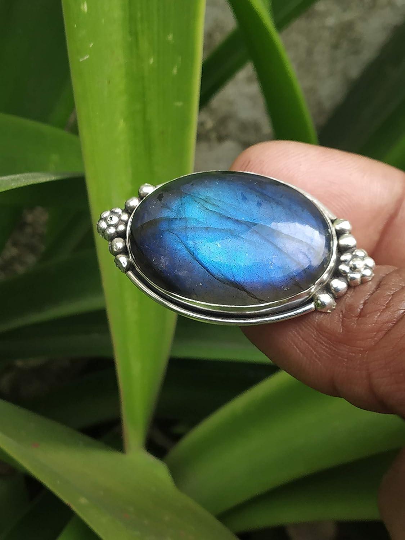 Carving Labradorite Ring* Sterling Silver Ring* Labradorite Cabochon Ring* statement ring* Labradorite gemstone Ring* blue fine ring* A339