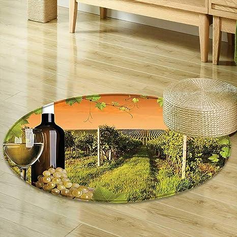 Amazon Com Mikihome Round Rug Kid Carpet Winery Decor